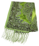 Lovely Hand Made Thai Floral Scarf Shawl Green