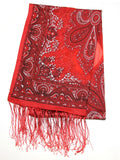 Lovely Hand Made Thai Floral Scarf Shawl Red