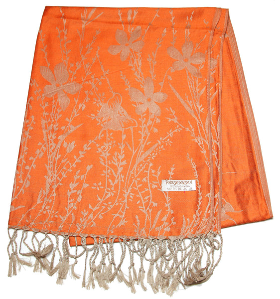 Nepal Hand Made Pashmina Shawl Scarf Orange