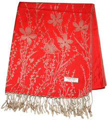 Nepal Hand Made Pashmina Shawl Scarf Red