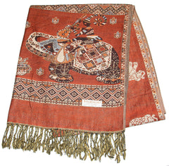 Nepal Hand Made Pashmina Shawl Scarf Sahara Brown