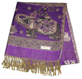 Nepal Hand Made Pashmina Shawl Scarf Grape