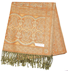 Hand Made Pashmina Shawl Scarf in Sahara Orange