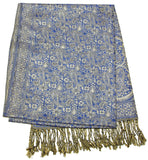 Hand Made Pashmina Shawl Scarf in Blue