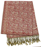 Hand Made Pashmina Shawl Scarf in Red