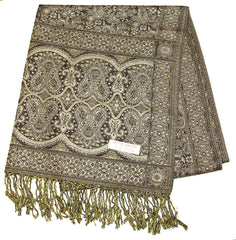 Hand Made Pashmina Shawl Scarf in Brown
