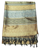 Hand Made Pashmina Shawl Scarf Gold