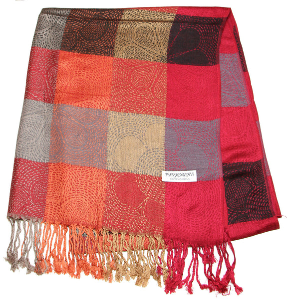 Fair Trade Hand Made Nepal Pashmina Scarf Shawl Red
