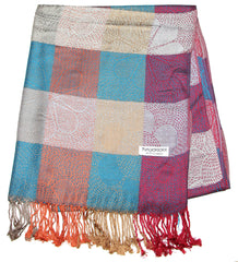 Fair Trade Hand Made Nepal Pashmina Scarf Shawl Multi