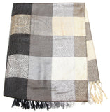 Fair Trade Hand Made Nepal Pashmina Scarf Shawl Black