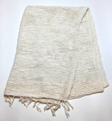 Fair Trade 100% Organic Cotton Scarf White