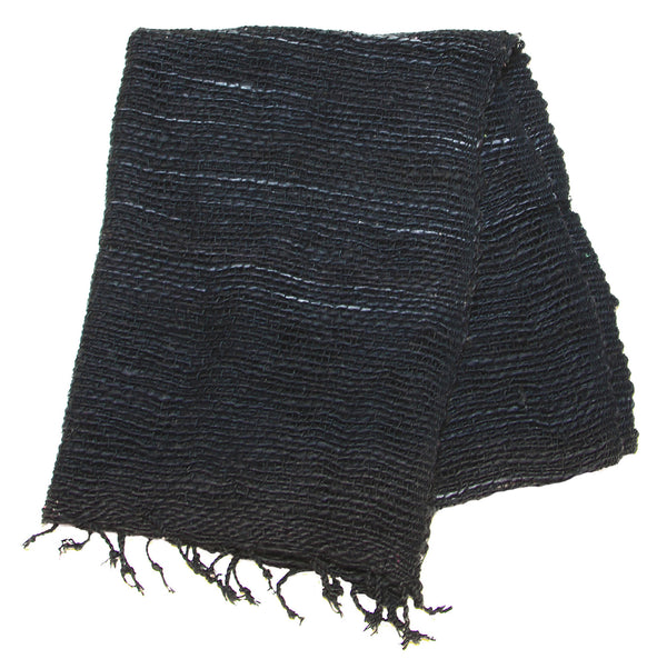 Fair Trade 100% Organic Cotton Scarf Black