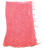 Fair Trade 100% Organic Cotton Scarf Coral Pink