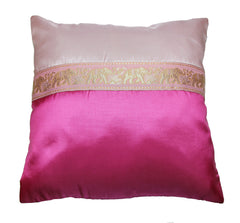 Thai Silk Elephant Pillow Cases in Purple