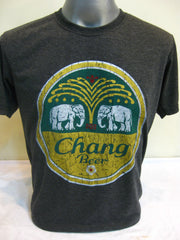 Super Soft Cotton Vintage Distressed Old School BEER CHANG Black