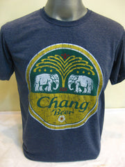 Super Soft Cotton Vintage Distressed Old School BEER CHANG Denim Blue