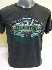 Super Soft Cotton Vintage Distressed Old School BEER LAO Black