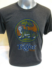 Super Soft Cotton Vintage Distressed Old School BEER TIGER Black
