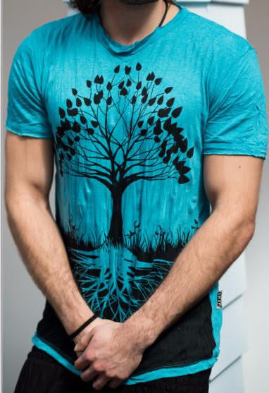 Sure Design Mens T-Shirts Tree of Life in Turquoise