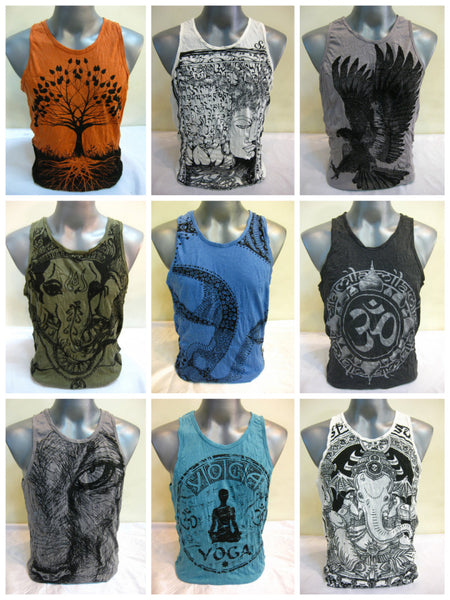 Sure Design Wholesale Set of 10 Men's Tank Top T-Shirts