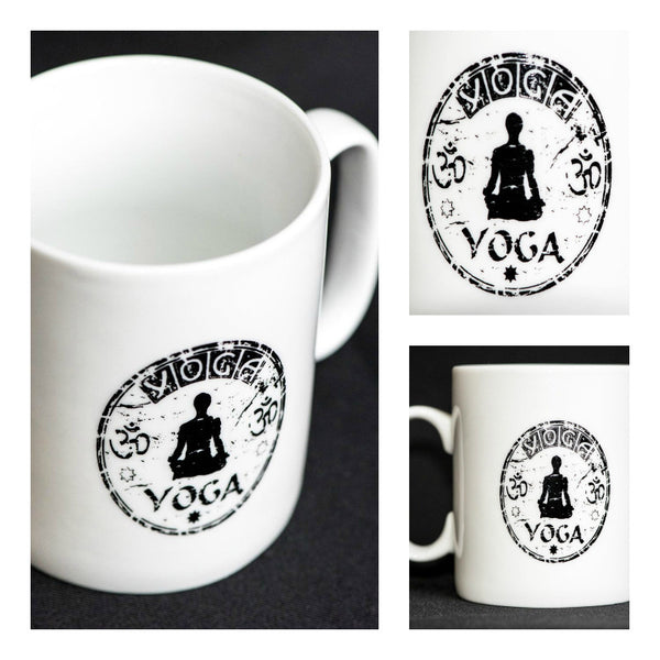 Ceramic Mugs 22oz Printed Yoga Stamp