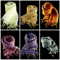 Wholesale Set of 10 Thai Hand Made Organic Cotton Scarves
