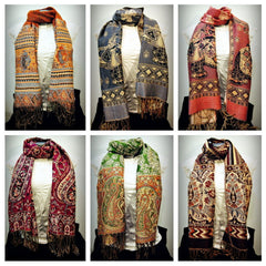 Wholesale Set of 10 Nepal Fair Trade Pashmina Scarves Shawls
