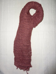 Fair Trade 100% Organic Thick Cotton Scarf Maroon