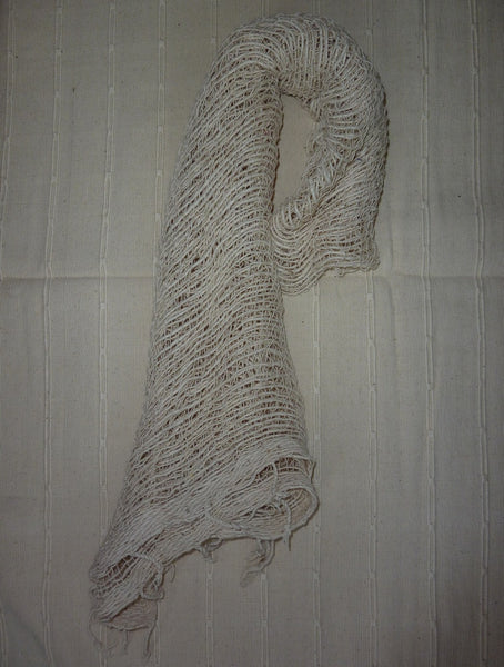 Fair Trade 100% Organic Thick Cotton Scarf White