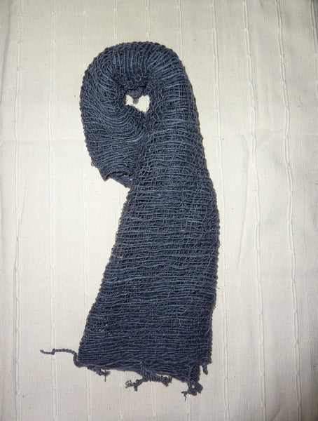 Fair Trade 100% Organic Thick Cotton Scarf Navy