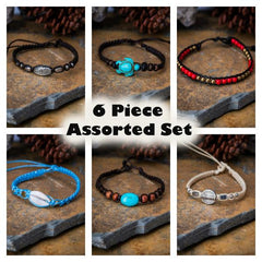 Assorted 6 Piece Set Fair Trade Hand Made Bracelet