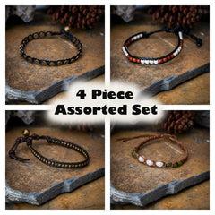 Assorted 4 Piece Set Fair Trade Hand Made Bracelet