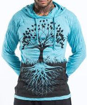Sure Design Unisex Hoodie Tree of Life in Turquoise