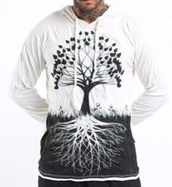 Sure Design Unisex Hoodie Tree of Life in White