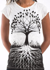Sure Design Womens T-Shirts Tree of Life in White