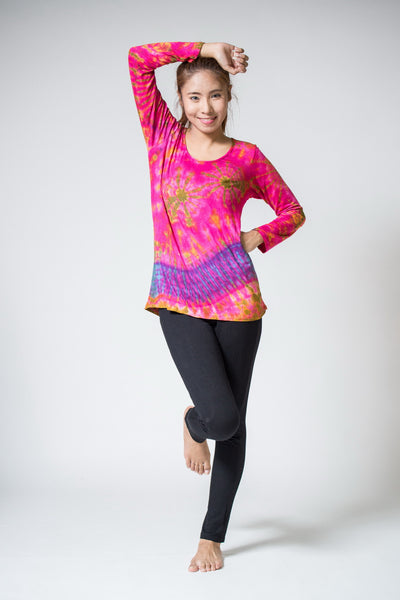 Womens Hand Made Tie Dye Long Sleeve Tshirts