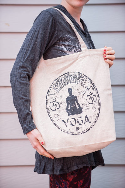 NEW Recycled Cotton Canvass Shopping Tote Bag Yoga Natural