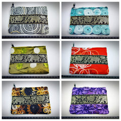 Wholesale Lot Of 10 Thai Assorted Silk Coin Pouch BESTSELLER