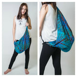 Hand Made Tie Dye Boho Day Bag Purse Blue