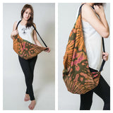 Hand Made Tie Dye Boho Day Bag Purse  Orange