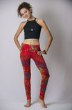 Super Soft Comfortable Womens Leggings Tie Dye Red