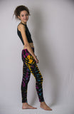 Super Soft Comfortable Womens Leggings Tie Dye Black Gold