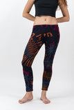 Super Soft Comfortable Womens Leggings Tie Dye Black Orange