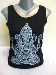 Super Soft Cotton Women's Tank Classic Ganesh Black