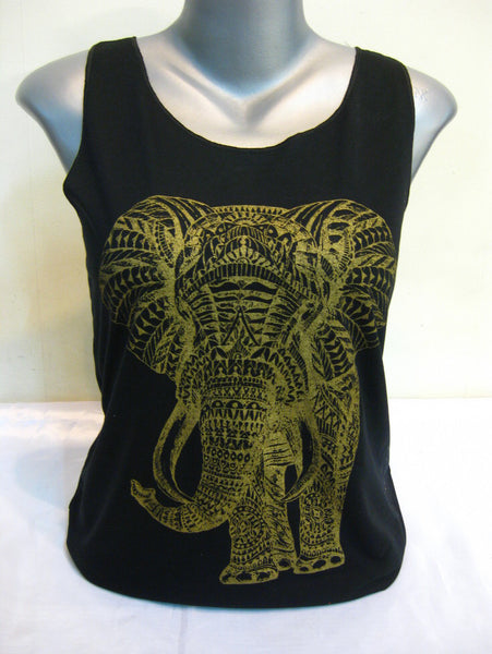 Super Soft Cotton Women's Tank Elephant Black