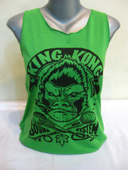 Super Soft Cotton Women's Tank King Kong Sound Green