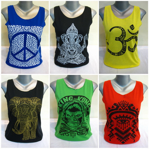 Wholesale Set of 10 Thai Super Soft Womens Tshirts Tank Top