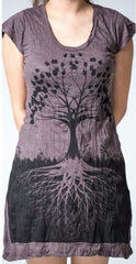 Sure Design Womens Dress Tree of Life in Brown