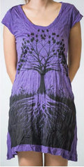 Sure Design Womens Dress Tree of Life in Grape