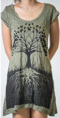 Sure Design Womens Dress Tree of Life in Green